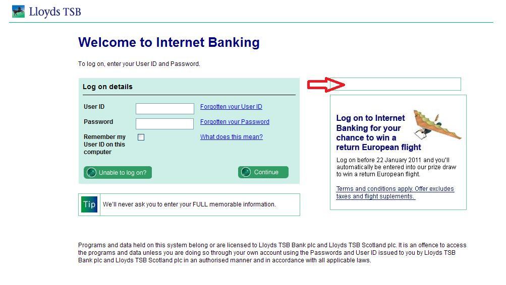 lloyds tsb bank personal log on