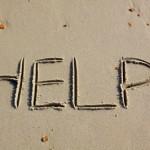 help written in sand