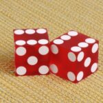 dice showing double six