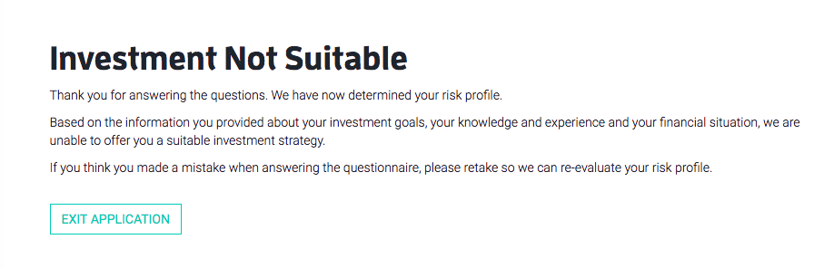 Scalable Capital risk assessment