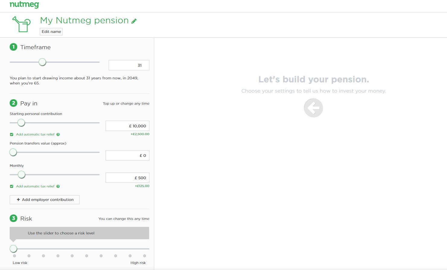 nutmeg pension step 2