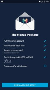 the monzo package