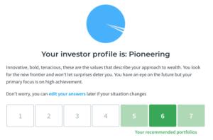Moneyfarm risk profile