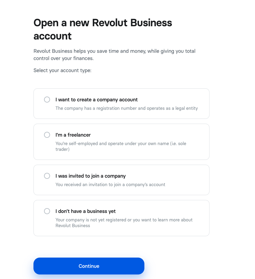 revolut business account